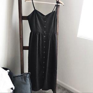 H&M dress black button down size 6